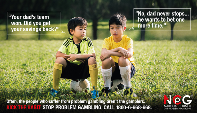 National Council on Problem Gambling advertisement